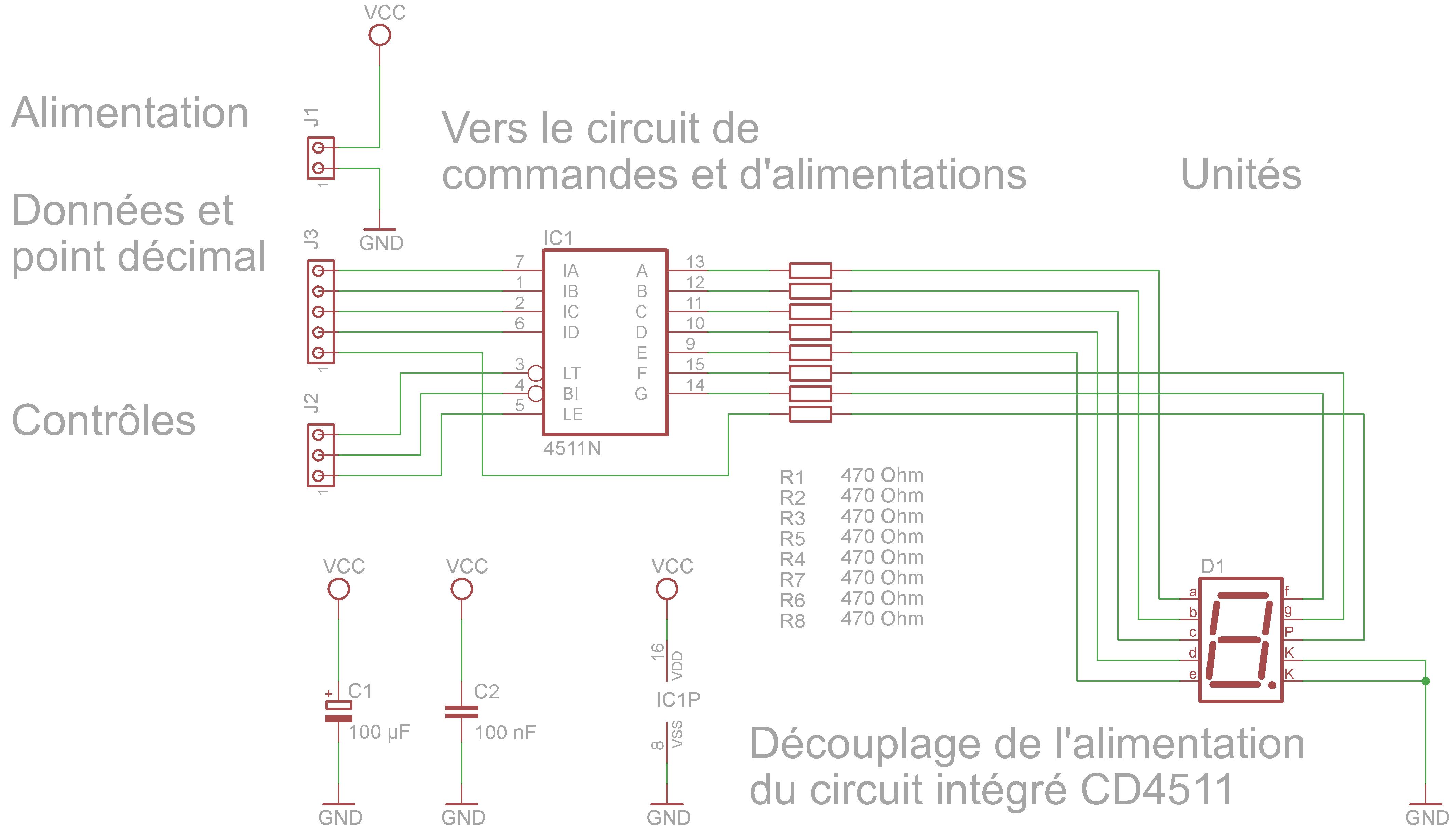 afficheurs  u00e0 led   circuits de pilotage